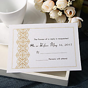 Personalize Wedding Response Cards - Classic Stampings (Set of 50)