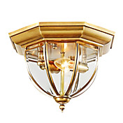 Golden Semi Flush Mount with 2 Lights