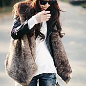 Sleeveless Collarless Collar Evening/ Career Faux Fur Vest (More Colors)