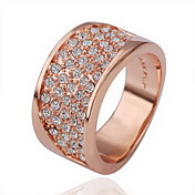Gorgeous Rhinestone 18K Gold Plate Tilt Area Fashion Ring