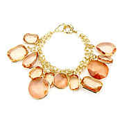 Fashion Ladies' Orange Acrylic In Alloy Bracelet