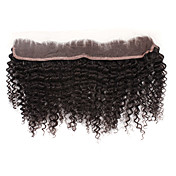 100% Indian Remy Hair 14 Inch Long Little Curl 13 Inch By 2 Inch Lace Frontal Multiple Colors Available