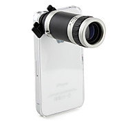Objectif Tlscopique Manuel, Zoom Optique x8, avec Etui Rigide pour iPhone 4/4S