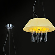 Artistic Pendant Lights with 3 Lights Fabric Shade