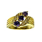 Beautiful 18K Gold Plated Cubic Zirconia Fashion Ring(More Colors)