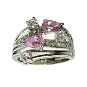 Double Hearts Cubic Zirconia Fashion Ring(More Colors)