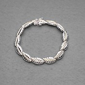 Gorgeous Silver Plated Fourty Big Circle Unisex Bracelet