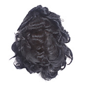 100% Indian Remy Hair Short Curly Men's Toupee With 10 Inch By 7 Inch Mono Top