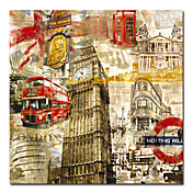 Printed London City Canvas Art with Stretched Frame