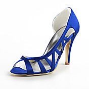 Beautiful Satin Stiletto Heel Pumps Hollow-out Wedding Party Women's Shoes