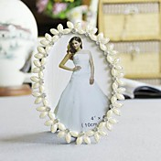 Elegant Oval Alloy Wedding Photo Frame