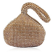 Gorgeous Satin with Rhinestone Peach Shape Evening Handbag/Clutches(More Colors)