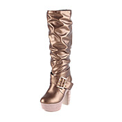 Beautiful Leatherette Chunky Heel Mid-Calf Boots Party/Evening Shoes (More Colors)