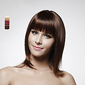 Capless 100% Human Hair Medium Length Bob Style Hair Wig 5 Colors To Choose
