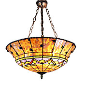 2 - Light Tiffany Pendent Lights with Glass Shade