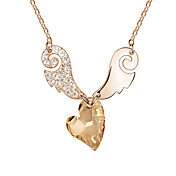 Beautiful Alloy With Austrian Crystal Sweetheart Eros Women's Necklace (More Colors)