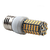 E27 138x3528 SMD 7W 350-450LM 2800-3300K Warm White Light LED Corn Bulb (220-240V)