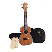 Rainie - (C50) Professional-Grade Solid Acacia Koa Concert Ukulele with Gig Bag/Tuner (Pearl Binding)