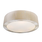 Luxuriant Fabric Flush Mount with 2 Lights in Round