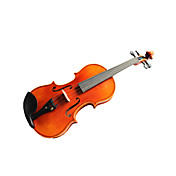 Violintine - (V21) 1/2 Professional-Grade Solid Spruce & 1-Piece Flame Maple Violin with Case/Bow