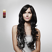 Capless Long 100% Human Hair Natural Look Curly Hair Wig 5 Colors To Choose