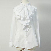 Long Sleeve White Cotton Sweet Lolita Blouse with Bow