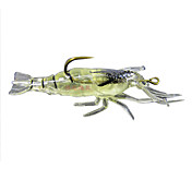 Soft Fishing Lure Noctilucent Shrimp Bait 5G 40MM (4 enheder / Pack)