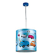 1 Lght Lovely Pendant Light with Colorful Cars on the Lamp