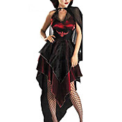 Sexy Woman Slinky Vampire bats Adult Halloween Costume(3Pieces)