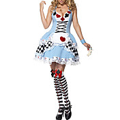 Sexy Fancy Blå kjole Halloween kostume Askepot Maid (2Pieces)