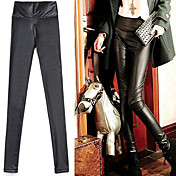 Imitation Leather Skinny Leggings
