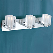 Modern Stainless Steel Wall Lights with 3 Lights in G9 Bulb Base Electroplate Finished