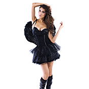 Adultos Sexy Dark Angel Fancy Dress Disfraces de Halloween (1 Piezas)