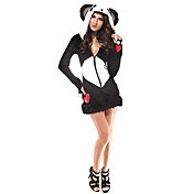 Kvinners Sexy Black White Animal Deluxe Panda Bear Halloween Costumes