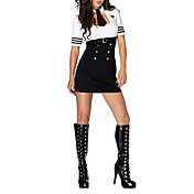 Sexy Woman Sultry Swat Officer Dress Police Halloween Costume(2Pieces)