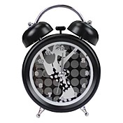 Lady Pattern Twin Bell Desktop Alarm Clock (1xAA)