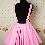 Short Pink Terylene Pleated Sweet Lolita Skirt