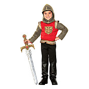 Boy Brave Muscle Knight Gold Soldier Child Halloween Costume (5-7 YRS)