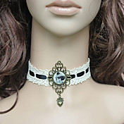 Handmade White Lace Retro Style Aristocrat Lolita Necklace