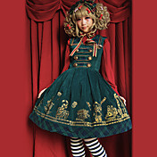 Sleeveless Knee-length Pure Color Corduroy Causual  Lolita Dress