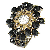 Charmant Legering met Black Crystal Quartz Dress horloge