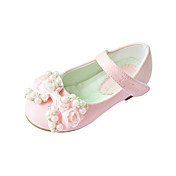 Kids' Leatherette Flat Heel Closed Toe With Imitation Pearl Bow Party/Evening Shoes (More Colors)