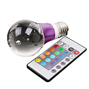 E27 3W 195LM RGB Light Crystal LED Ball Bulb (110-240V)