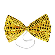 Yellow Sequins Bow Halloween Cravat(1 piece)
