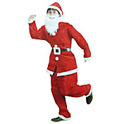 Red Christmas Santa Claus Christmas Costumes(3 Pieces)