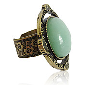 Charming Alloy Round Imitation Gem Stone Alloy Ring