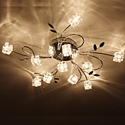 Artistic Aluminum Flush Mount Lights With 11 Lights
