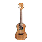 Koa Pili Koko - (Ac-c-dlx)  All-solid Koa Abalone Binding Concert Ukulele with Bag/Strap