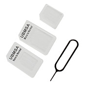 Nano and Micro Sim Card Adaptor with Extraction Needle for iPhone 4 , 4S and 5