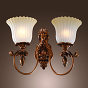 Antique Inspired Wall Light with 2 Lights